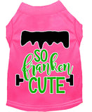 So Franken Cute Screen Print Dog Shirt
