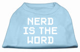Nerd Is The Word Screen Print Shirt