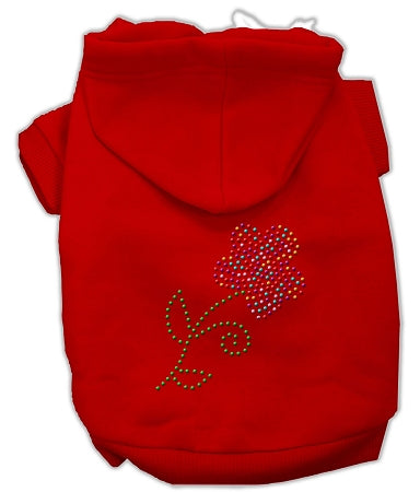 Multi-colored Flower Rhinestone Hoodie