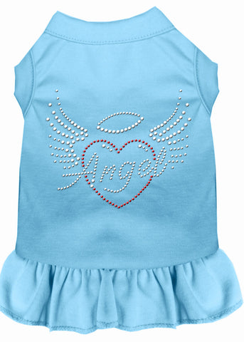 Angel Heart Rhinestone Dress Baby Blue