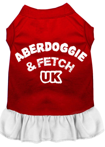Aberdoggie Uk Screen Print Dress Red