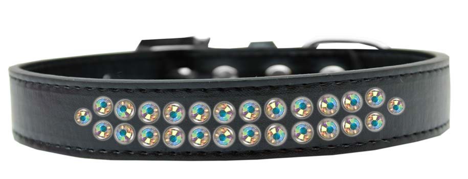 Two Row Ab Crystal Size Dog Collar