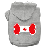 Bone Shaped Canadian Flag Screen Print Pet Hoodies