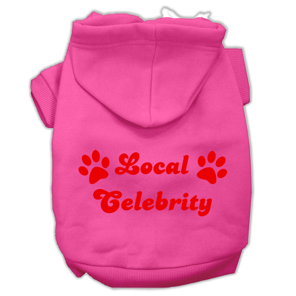 Local Celebrity Screen Print Pet Hoodies Size
