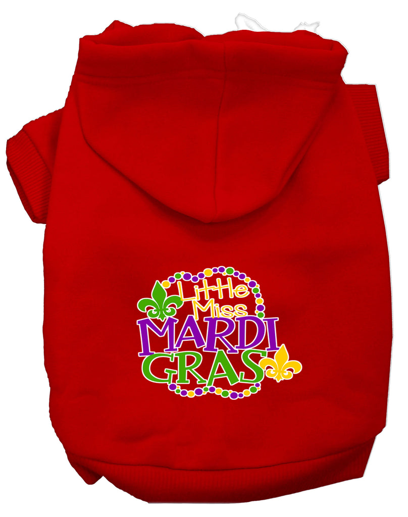 Miss Mardi Gras Screen Print Mardi Gras Dog Hoodie