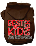 Ask My Mom Screen Print Dog Hoodie