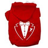 Tuxedo Screen Print Pet Hoodies Size