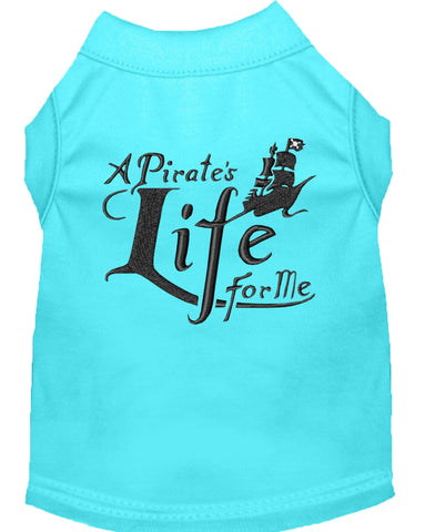 A Pirate's Life Embroidered Dog Shirt