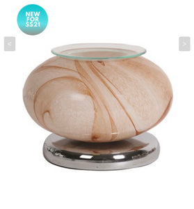 Natural marble electric warmer lamp