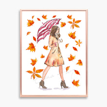 Load image into Gallery viewer, Rainy Day Fashion Print, Watercolor Illustration Print
