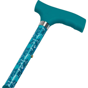 Foldable Walking Stick - Blue