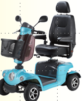 Mobility Scooter - Indigo - Light Blue