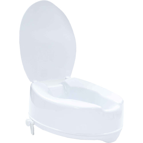 "Toilet Seat Raiser 6"" with Lid"
