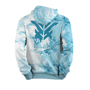 Ice Blossom Swirl Pullover Hoodie