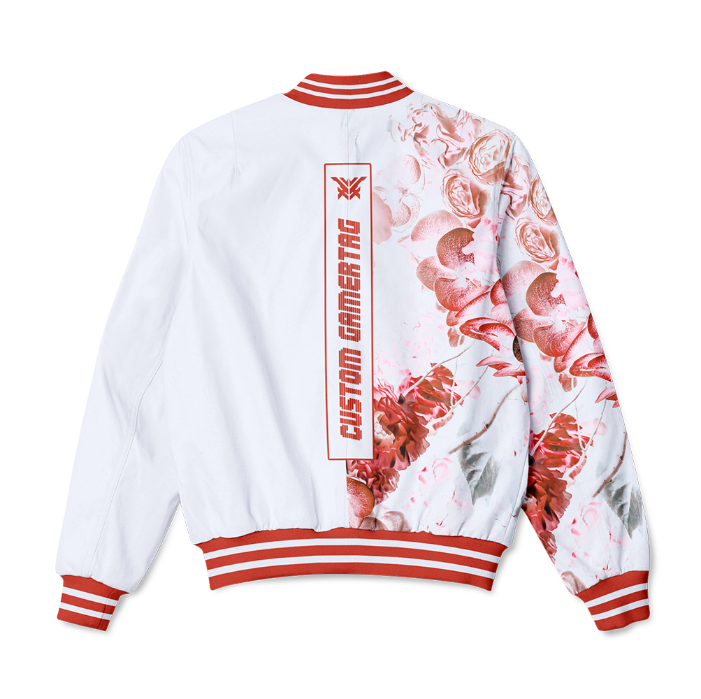 Light Blossom Bomber Jacket