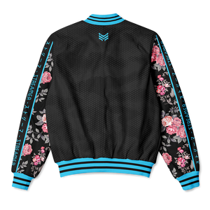BLUE BLOSSOMS BOMBER JACKET - STREAMER EDITION