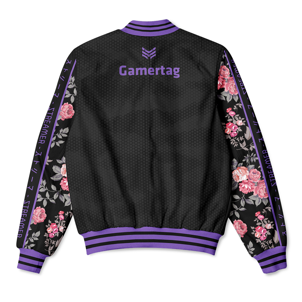 PURPLE BLOSSOMS BOMBER JACKET - STREAMER EDITION