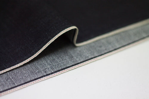 DEEP INDIGO STRETCH SELVEDGE DENIM *