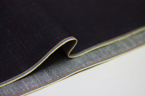 DEEP INDIGO RAINBOW STRETCH SELVEDGE DENIM *