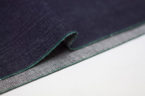 DEEP INDIGO FOREST GREEN SELVEDGE DENIM *