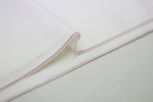 WHITE DENIM DOTTED RED SELVEDGE *
