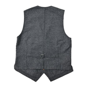 BLACK TWEED WORK VEST