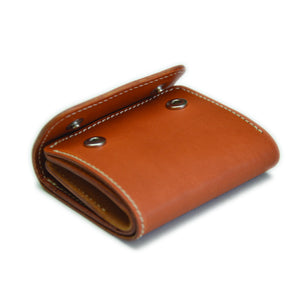 Compact Wallet with Coin Holder (Tanned)
