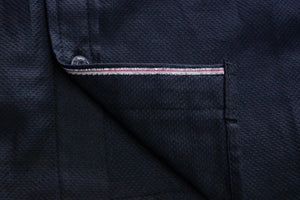 Black Selvedge Dobby Western Shirt
