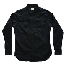 Load image into Gallery viewer, Black Selvedge Dobby Western Shirt