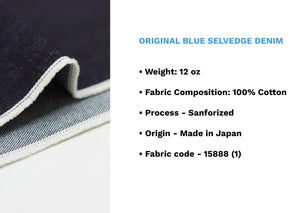 ORIGINAL BLUE SELVEDGE DENIM - Nama Denim