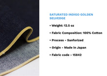 Load image into Gallery viewer, SATURATED INDIGO GOLDEN SELVEDGE - Nama Denim