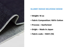 Load image into Gallery viewer, SLUBBY INDIGO SELVEDGE DENIM * - Nama Denim