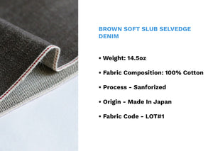 BROWN SOFT SLUB SELVEDGE DENIM * - Nama Denim