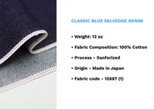 Load image into Gallery viewer, CLASSIC BLUE SELVEDGE DENIM * - Nama Denim