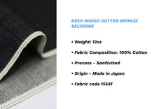Load image into Gallery viewer, DEEP INDIGO DOTTED BRONZE SELVEDGE * - Nama Denim