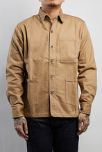 Load image into Gallery viewer, KHAKI SLUB CHORE JACKET - Nama Denim