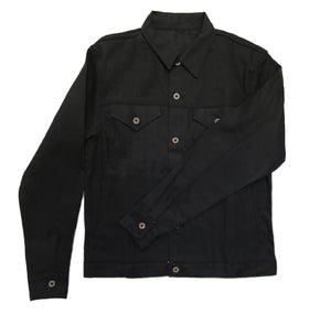 TYPE III DOUBLE BLACK TRUCKER JACKET