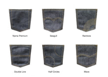 Load image into Gallery viewer, STRETCHY SELVEDGE DEEP INDIGO PINK ID