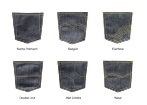 DEEP INDIGO FOREST GREEN SELVEDGE DENIM