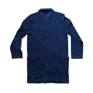 INDIGO DYED LAB COAT - Nama Denim