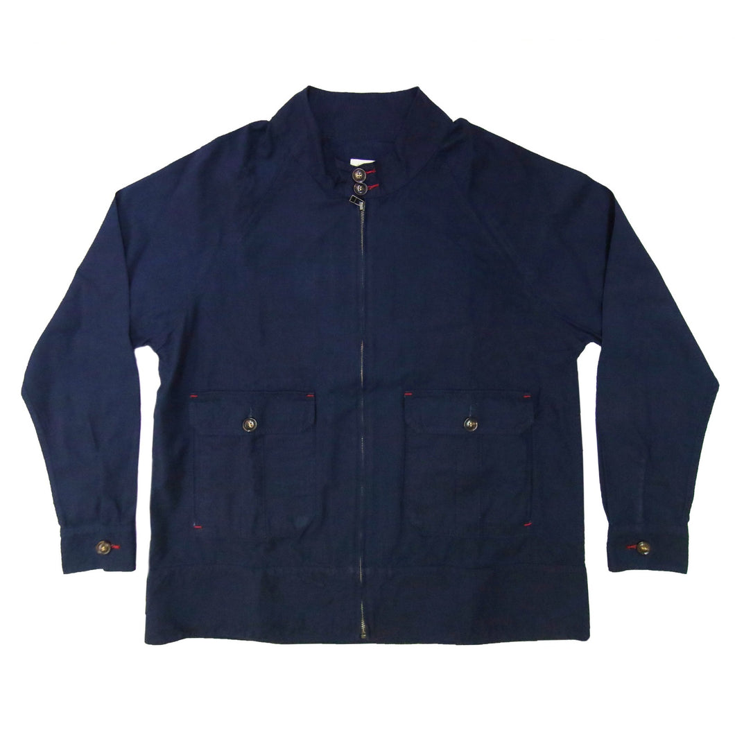 INDIGO HARRINGTON JACKET - Nama Denim