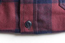 Load image into Gallery viewer, FLANNEL SHIRT (BURGUNDY/NAVY) SOLD OUT