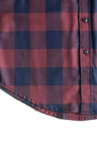 FLANNEL SHIRT (BURGUNDY/NAVY) SOLD OUT