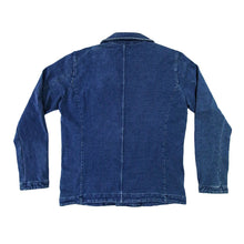Load image into Gallery viewer, INDIGO KNITTED BIKER JACKET