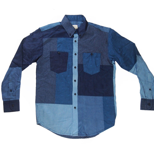 Patchwork Shirt (Indigo Yarn Dyed)