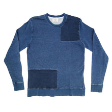 Load image into Gallery viewer, INDIGO PATCHWORK SWEATSHIRT (VINTAGE BLUE)