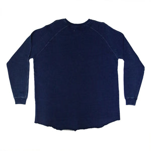 INDIGO DYED LOOPWHEEL SWEATSHIRT (DARK INDIGO) - Nama Denim