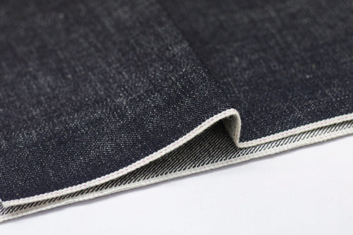 KUROKI SLUBBY AND HEAVY DEEP INDIGO PINK SELVEDGE *