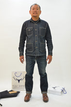 Load image into Gallery viewer, NP005 - OMOTAI GREEN CAST TWO TONE SELVEDGE DENIM - Nama Denim