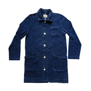 INDIGO DYED LAB COAT